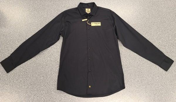Button Front Woven Long Sleeve Shirt