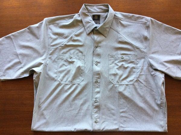 F/X Stretch Button Front Shirt-Green