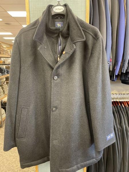 Hart Schaffner Marx zip car coat-Black