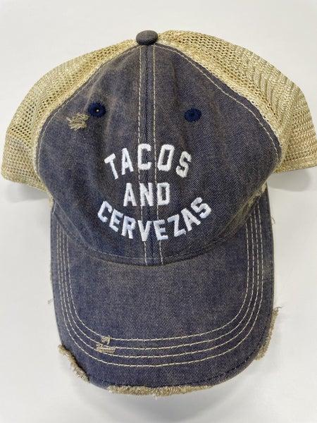 Retro Brand-Hat- Tacos and Cervezas