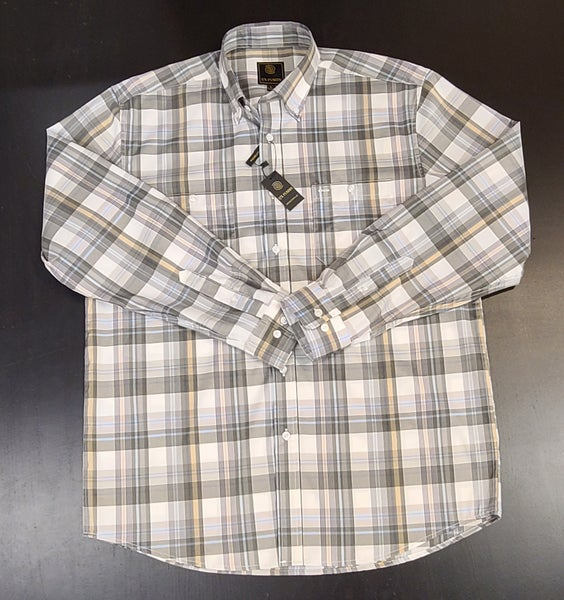 Plaid Woven Button Up Shirt - Olive