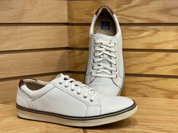 J&M McGuffey Lace-White Leather