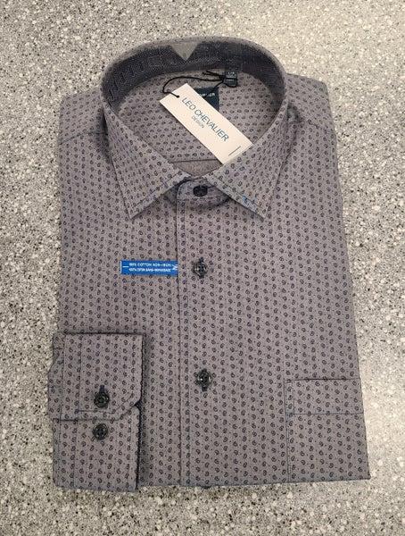 Woven Button Front Long Sleeve Shirt
