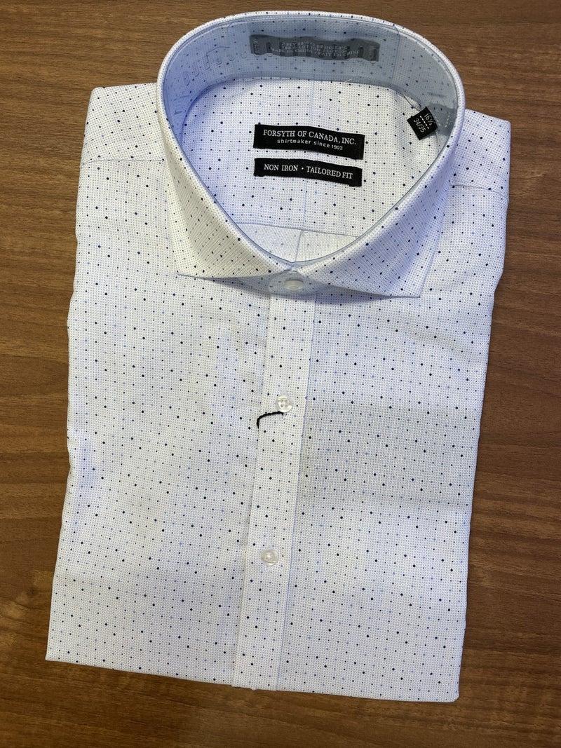 Forsyth  Non Iron Shirt-Blue Dot print