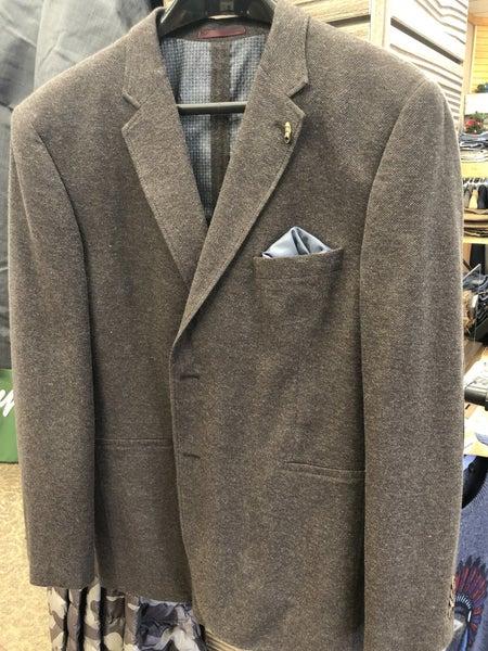 Brown Knit Sport Jacket