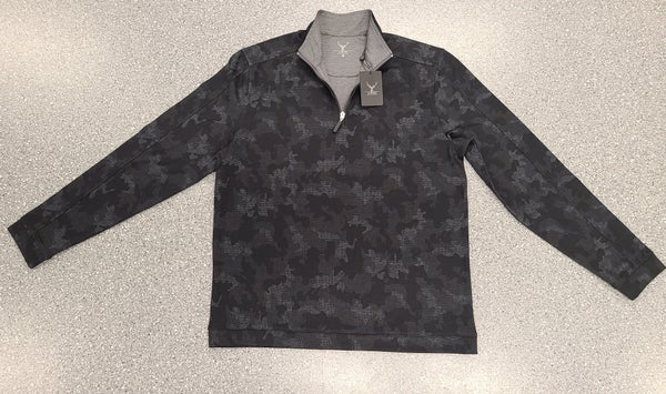 Camouflage Quarter Zip Sweater Black