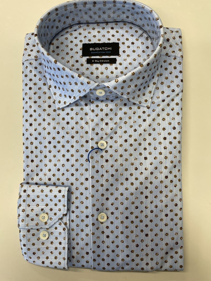 Bugatchi-L/S Woven Shirt-Periwinkle