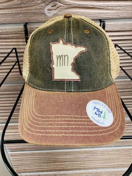Minnesota Truckers Cap-Burgundy