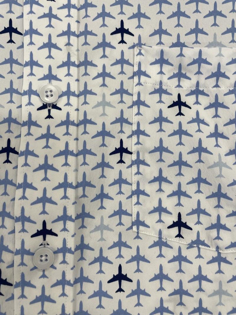 J&M Woven Shirt-Airplanes