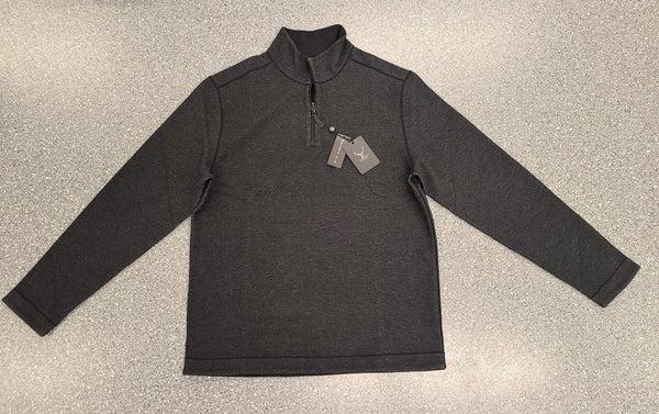 Houndstooth Reversable Quarter Zip Sweater