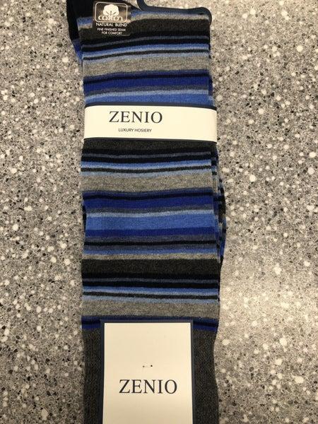 Zenio Horizontal Stripe Socks-blue