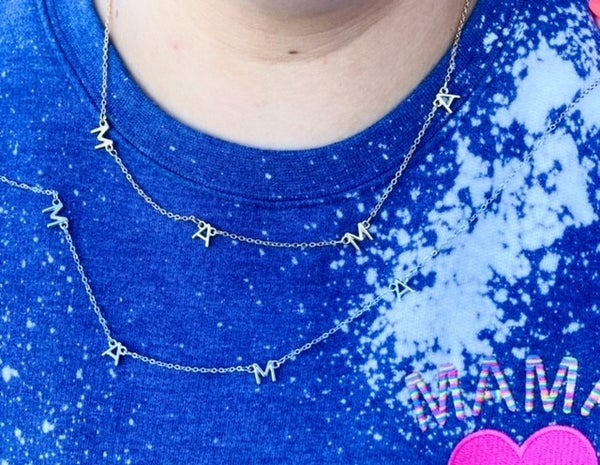 M|A|M|A Necklace | Gold or Silver