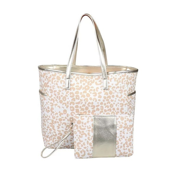 Golden Cheetah   Tote and Wristlet