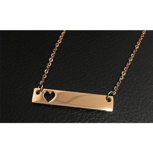 My Heart | Gold Bar Necklace