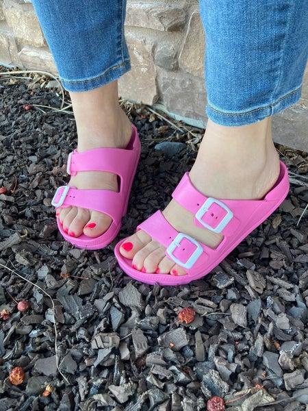 **DAILY DEAL** Women's | Bubblegum Pink Water Slides