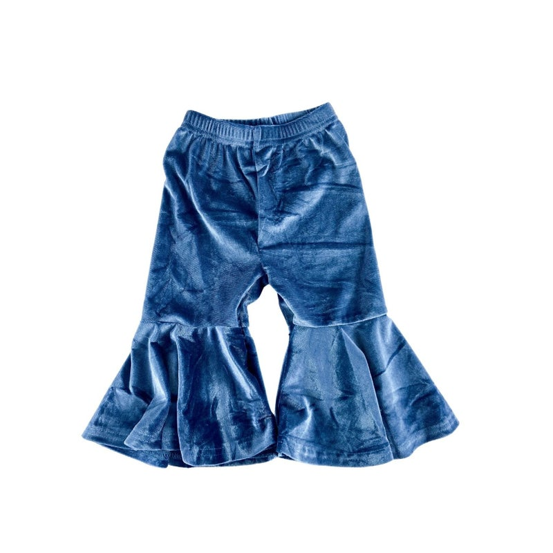 Stormy Velvet Blue Bell Bottoms : Limited Edition