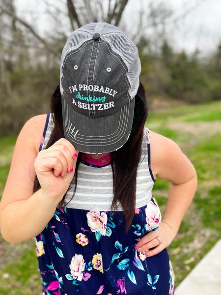 WOMEN'S | Baseball Cap | I'm Probably Drinking a Seltzer Hat