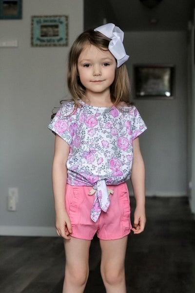 Ezra   Pretty in Pink Tie-Front Shirt