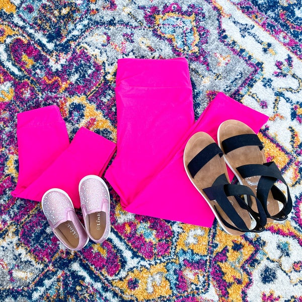 Girls | Bizzy Buttery Capris | Hot Pink