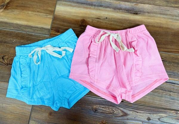 Jolie | Ribbed Ruffle Shorts
