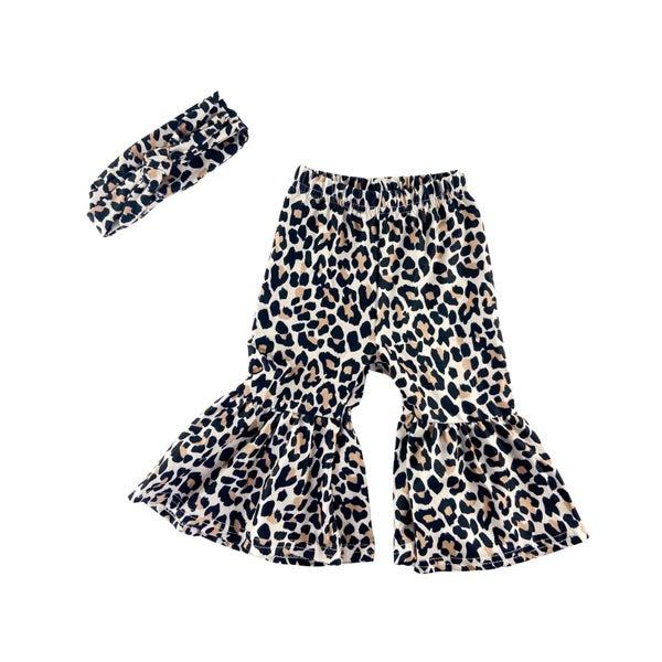 Cheetah Bell Bottoms + Headwrap