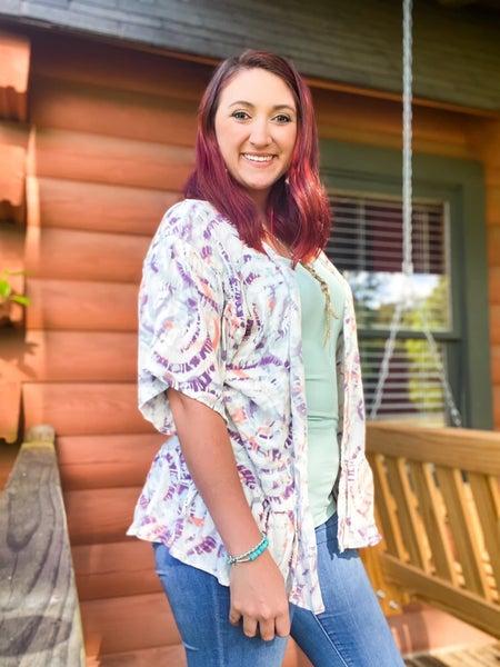 Farrah Fawcett   Tie Dye Kimono