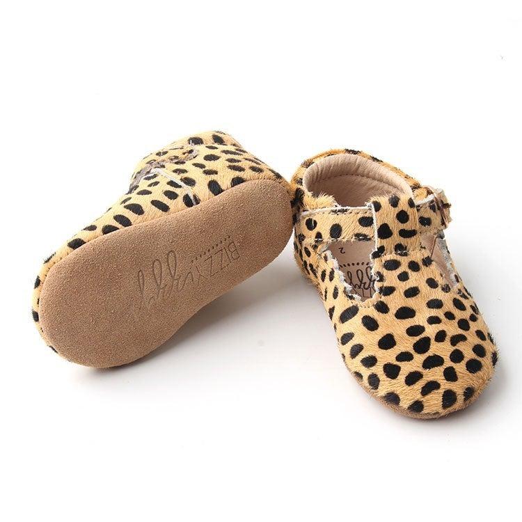 Cheetah  T-Strap Moccasins