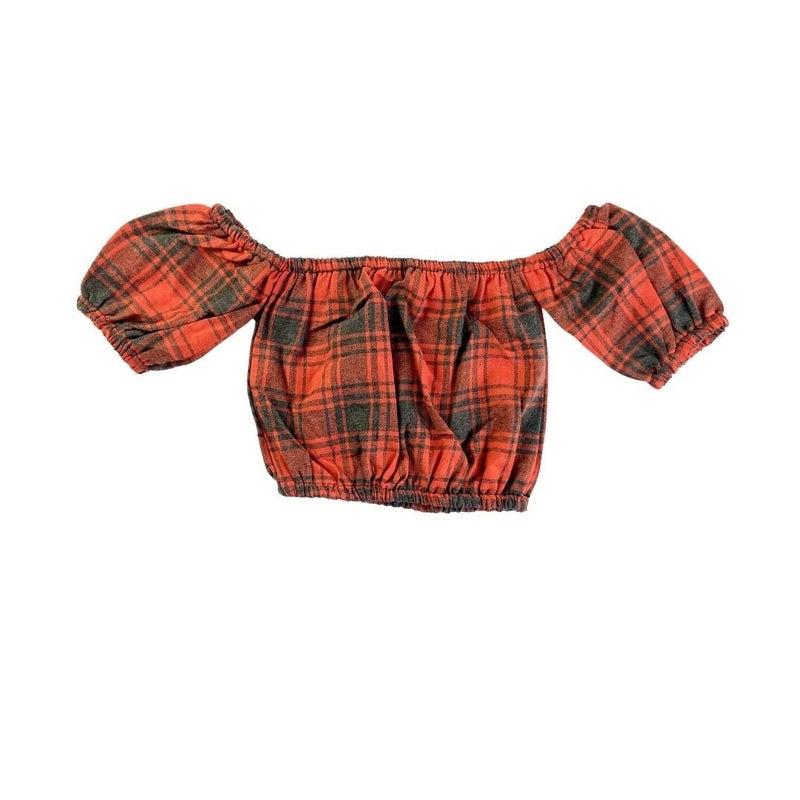Hayden Flannel Crop Top