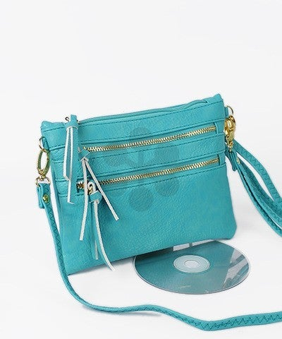 Lindy   Ultra Soft Faux Leather 3 Pocket Crossbody   Various Colors