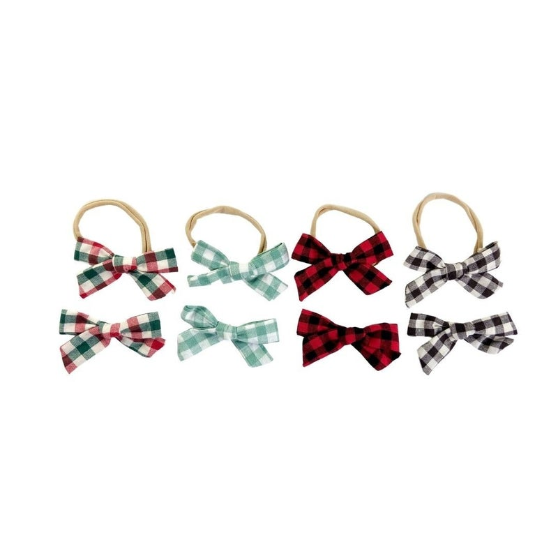 Perry Plaid Bow Collection: Nylon or Clips