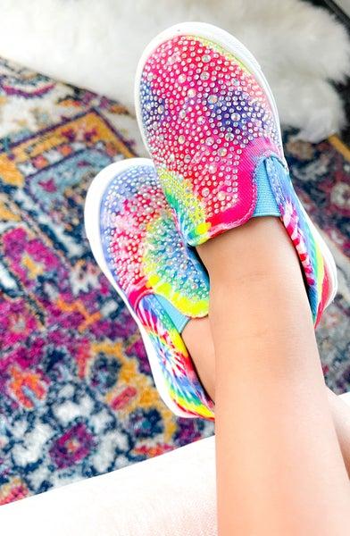 Brynn Tie Dye | Rhinestone | Slide-on Sneakers