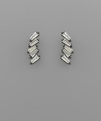Brittany | Crystal Linked Bar Earrings