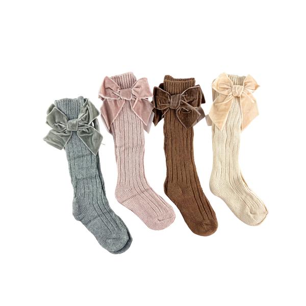 Girly Girl Velvet Knee High Socks