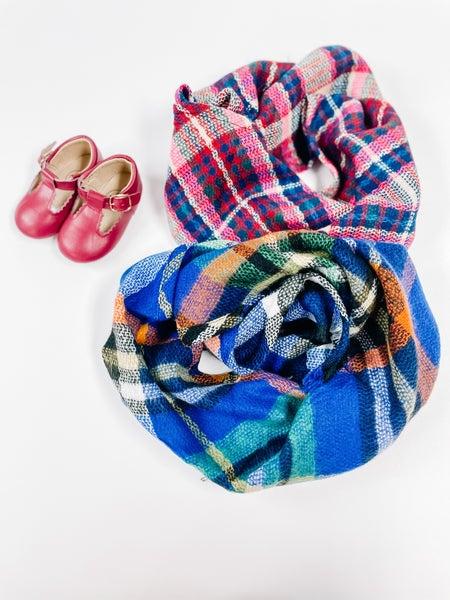 Karina + Gigi  Pink Berry Ultra Soft Woven Scarves