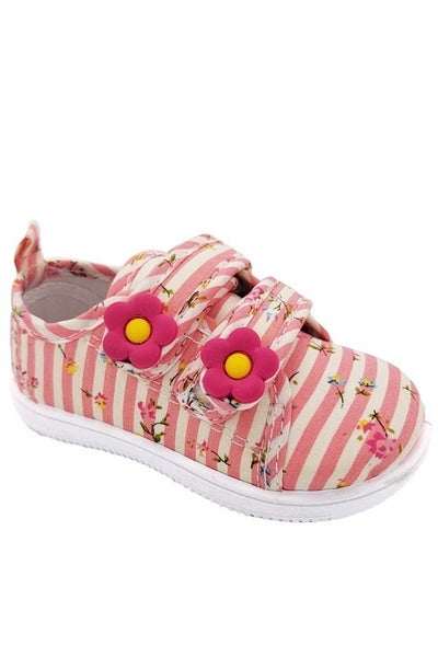 Daisy Lee | Striped/Floral Velcro Sneakers