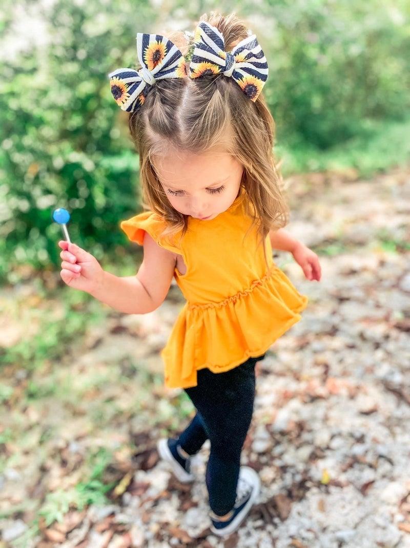 Josie Flutter Sleeve Peplum