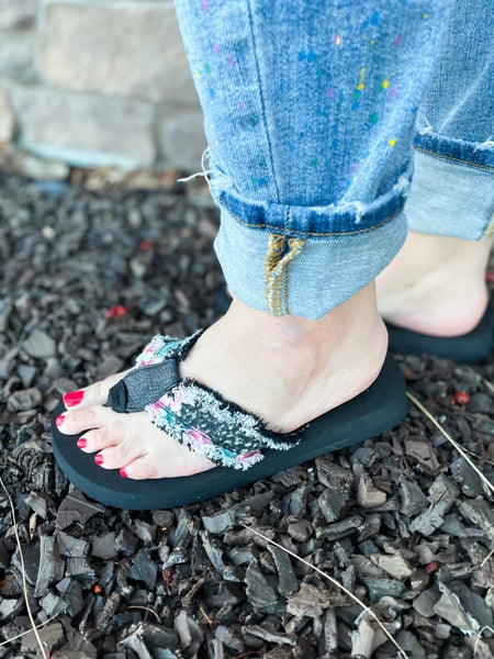 Floral Flip Flops | Gypsy Jazz