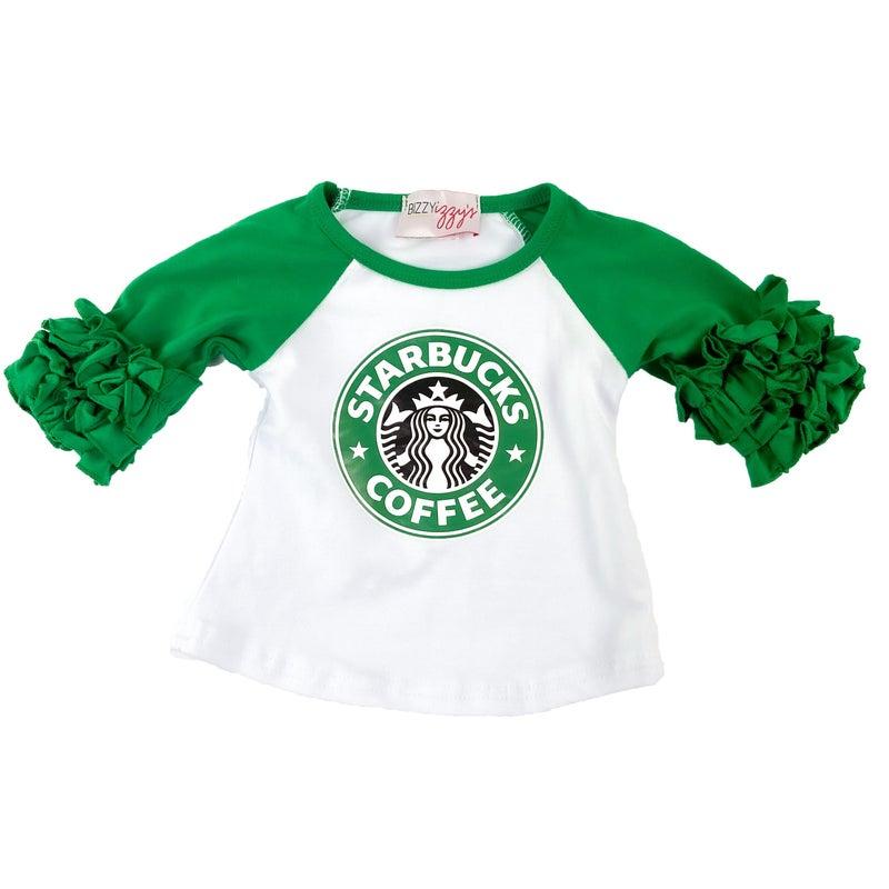 Target &  Starbucks Ruffle  Tees