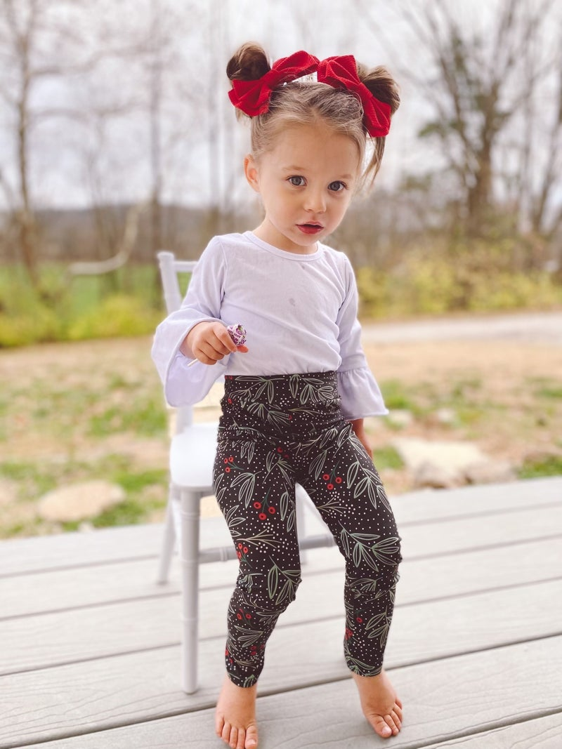 Girls Frosted Cranberry Bizzy Butter Leggings