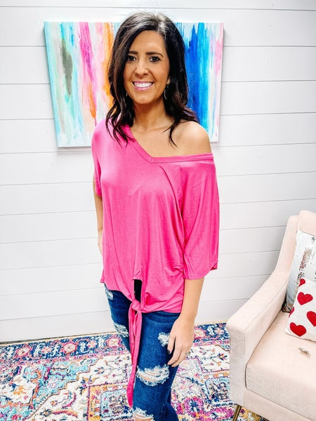 Serene | Luxe Rayon V-Neck Tie Top