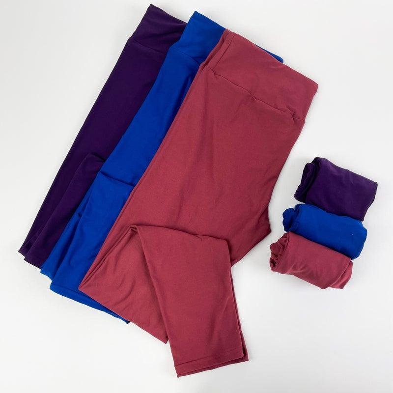 Women's | Bizzy Butter Leggings: Jewel Tone Solids