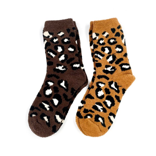 Cozy Cheetah Socks