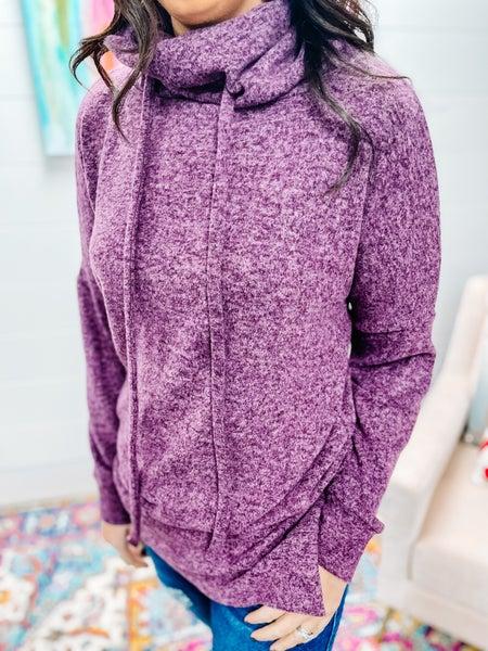 Megan   Ultra Soft Funnel Tunic Purple
