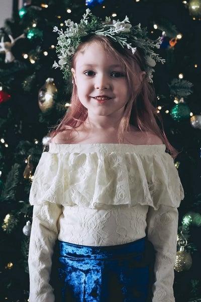 Olivia Off the Shoulder Lace Leotards: 2 colors