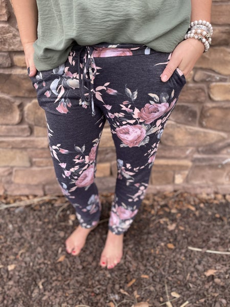 Renee | Floral Joggers