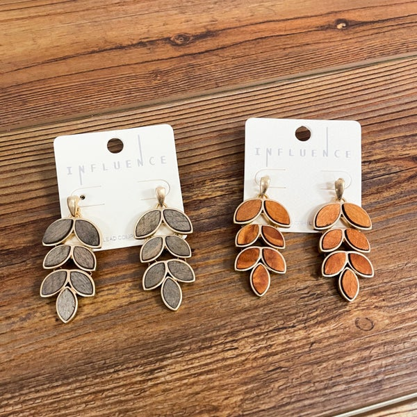Monica | Chandelier Leaf Earrings