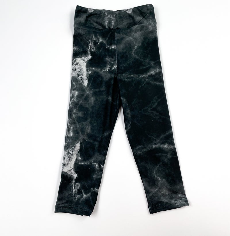 Girls Bizzy Butter Leggings: Black Marble