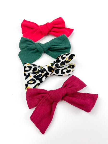 Zoe Set of 4 Bow Clip Collection