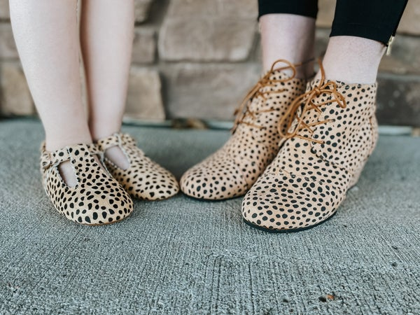 Women's Cheetah Wedge Shoes