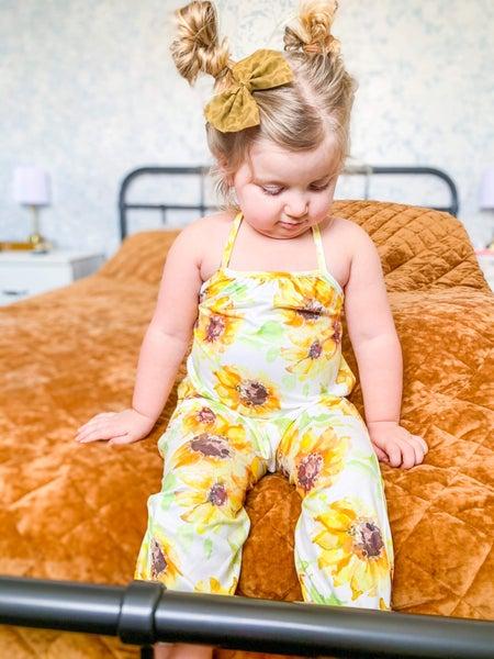 Miss Jo | Sunflower Halter Romper